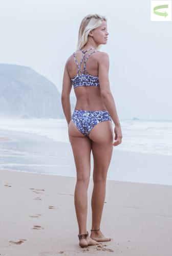 Blue Leo - Reversible Bikini Set - Diamant Back and Pant