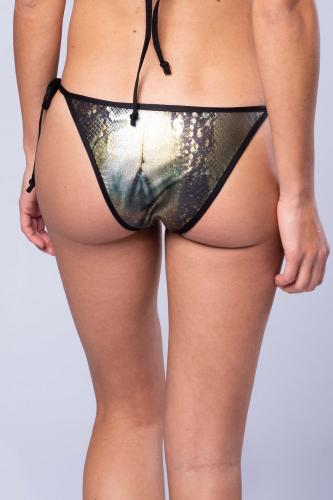 Metallic Snake - Bikini Set - Triangel and Tie Tanga