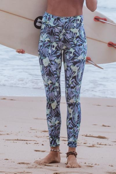 Leggings tropical front view